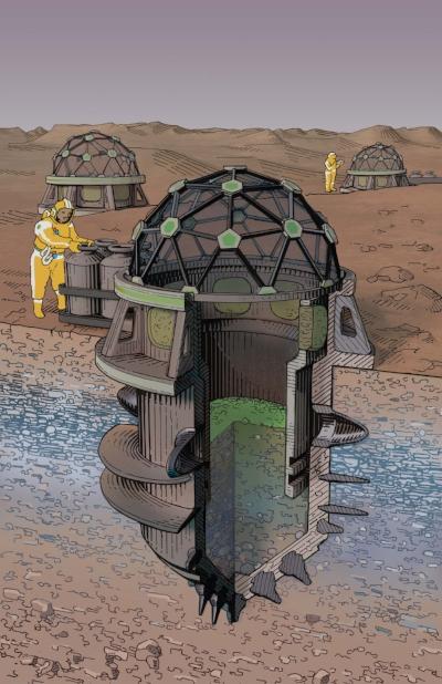 Mars cyano chamber